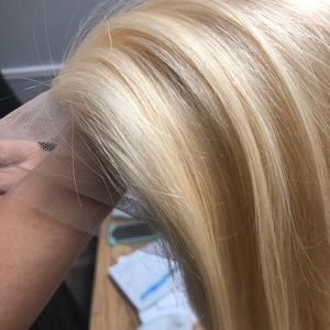 Human Blonde frontal lace Wig